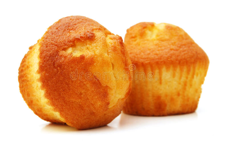 Tasty muffin cakes. Isolated on white royalty free stock photos