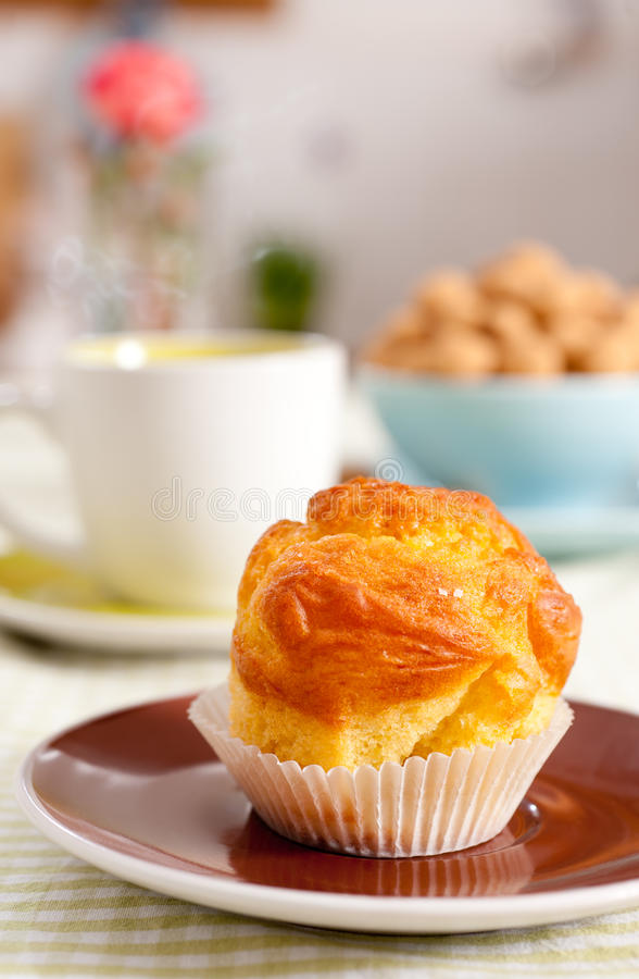 Tasty Muffin And Tea Stock Image