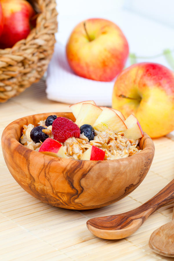 Download Tasty oatmeal stock photo. Image of healthy, tasty, wooden - 28461794