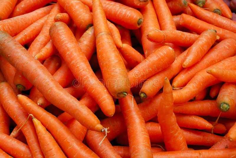 Tasty Orange Carrots Royalty Free Stock Photography