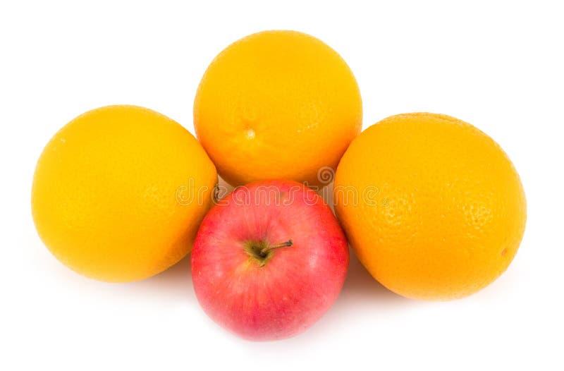 Tasty oranges with apple