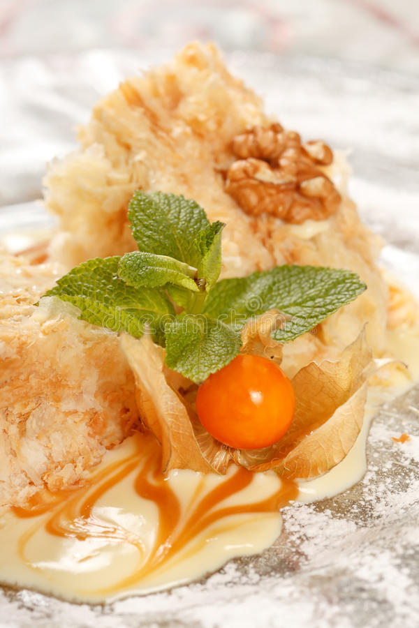 Download Tasty pastry with caramel stock photo. Image of mint - 19231592