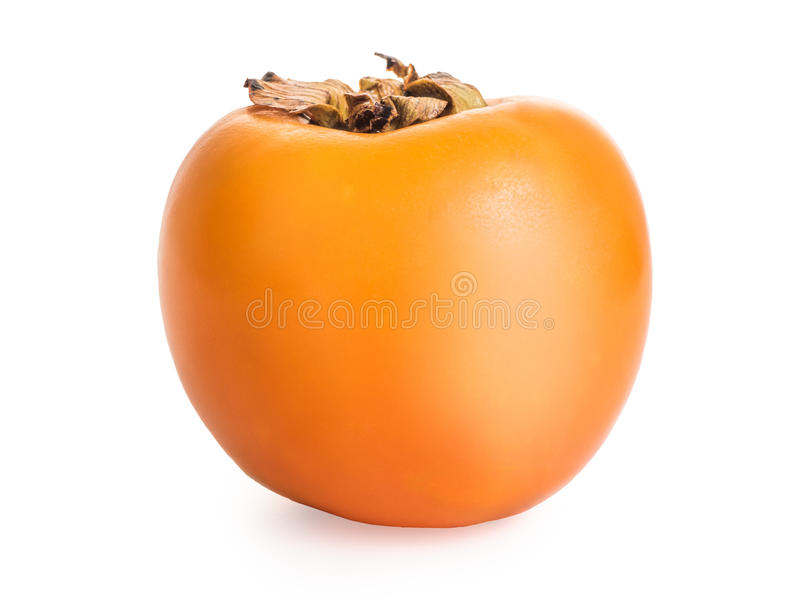 Tasty persimmon isolated on the white background. Full depth of field. Fruit photographed in Studio on white background stock photos