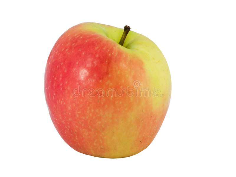 Tasty pink apple. Isolated on white background royalty free stock image