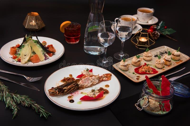 Tasty restaurant dishes royalty free stock image