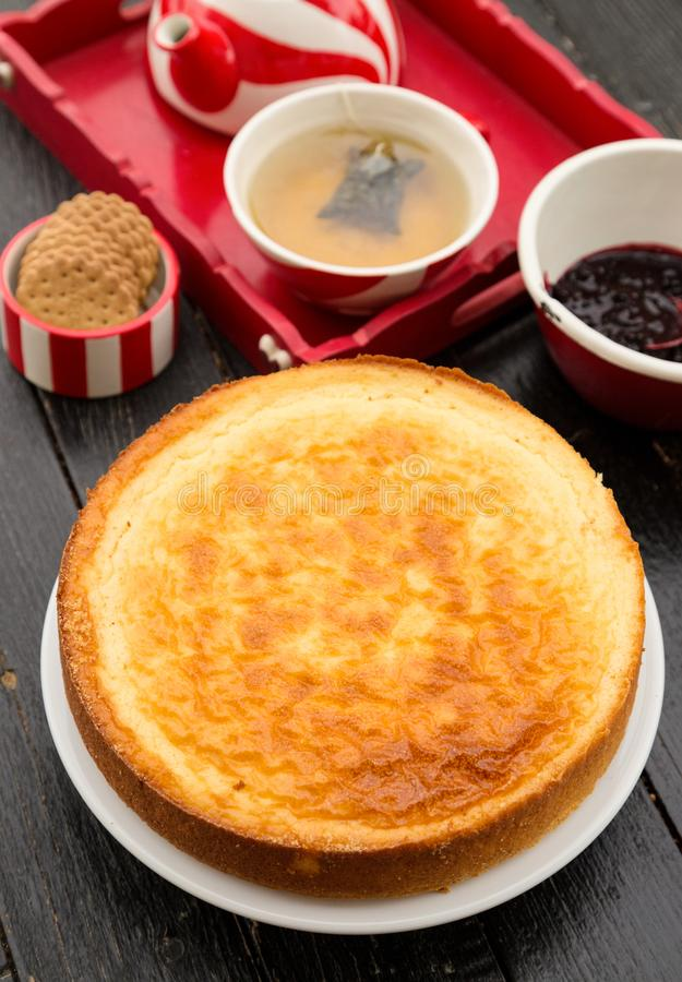 Rice pudding with milk - home baked stock photography