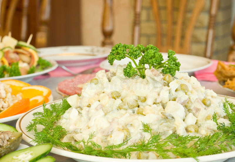 Download Tasty Russian Salad. Banquet In The Restaurant Stock Photos - Image: 13178923