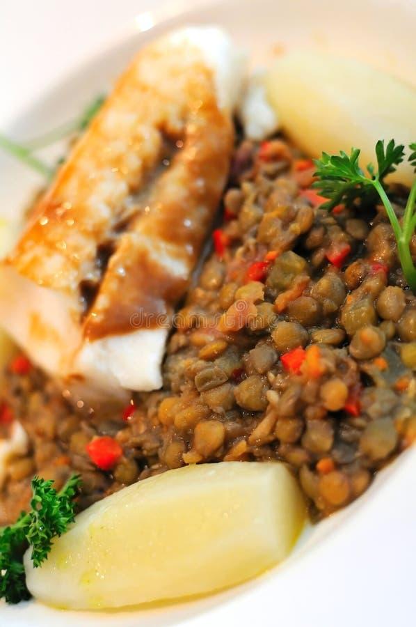 Tasty salmon cuisine