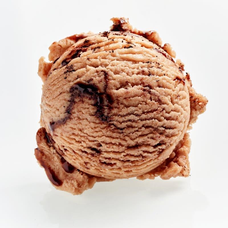 Tasty scoop of frozen coffee Italian ice-cream stock photography