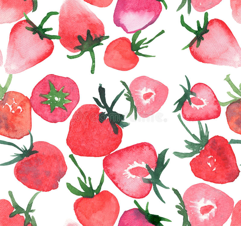 Tasty strawberries group seamless pattern vector illustration