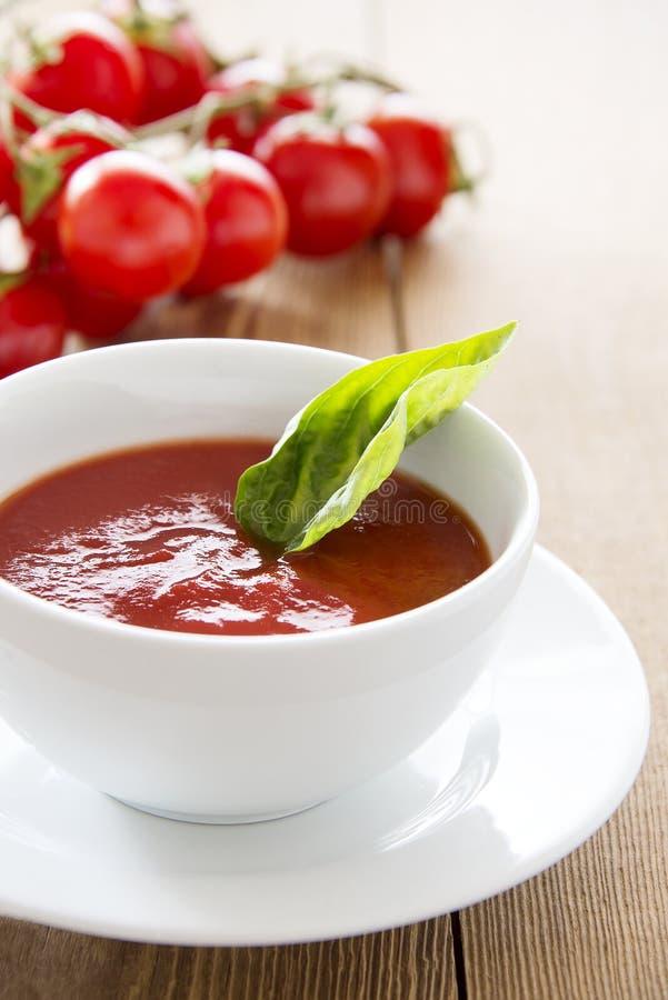 Tasty tomato soup royalty free stock photos