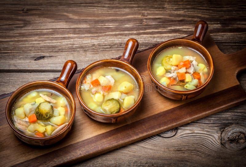 Tasty vegetable soup. stock photo