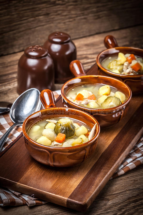 Tasty vegetable soup. stock images