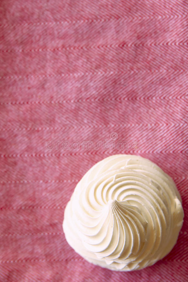 Download Tasty White Meringue On A Napkin. Stock Photo - Image: 22274202