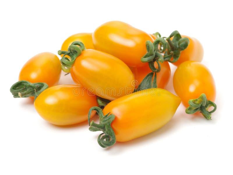 Tasty yellow cherry tomatoes stock photo