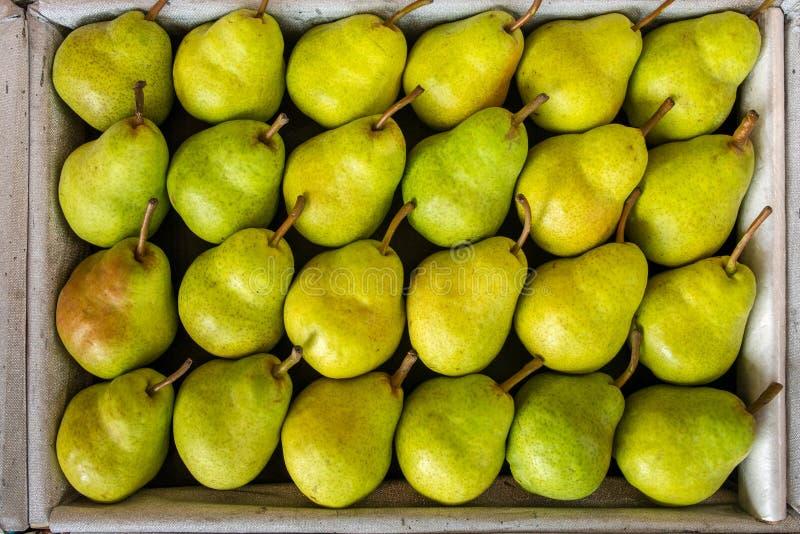 Tasty yellow pears stock photos
