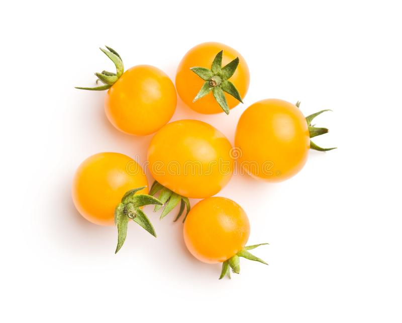 Tasty yellow tomatoes. royalty free stock images