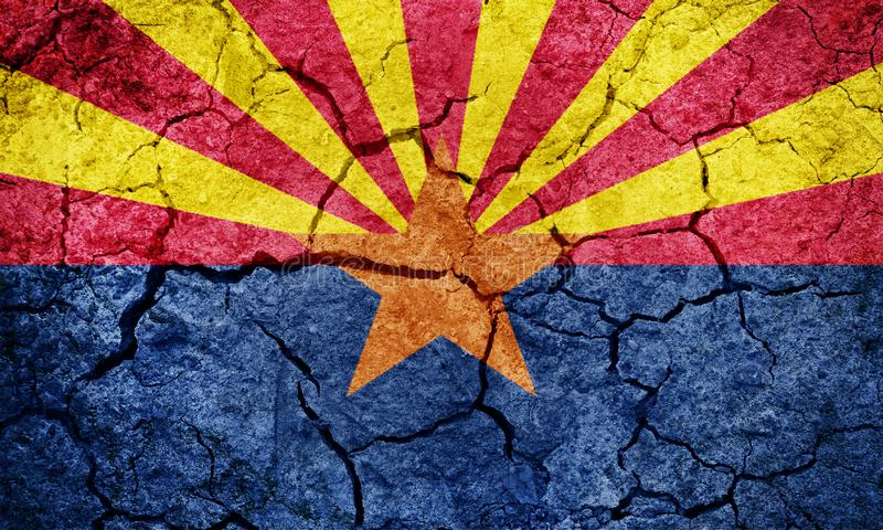 ?tat de drapeau d'Arizona illustration stock