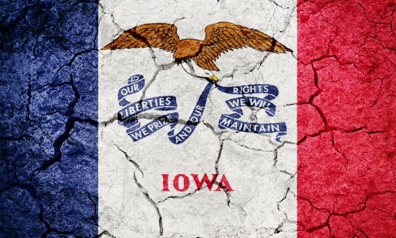 ?tat de drapeau d'Iowa illustration libre de droits
