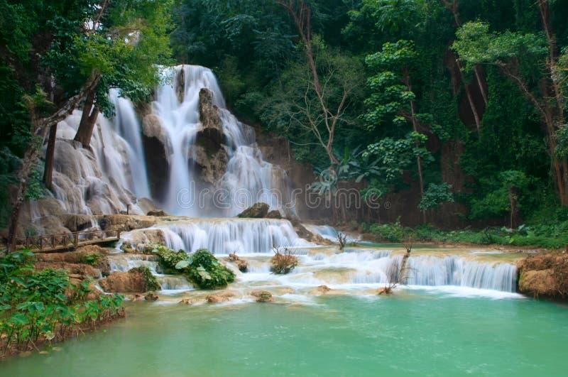 Tat Guangxi Waterfall, Luang Prabang. royalty free stock image