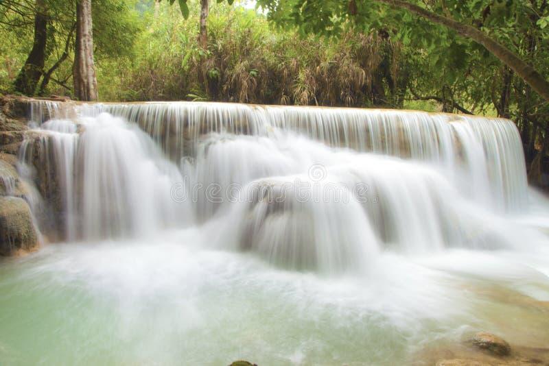 Tat Guangxi Waterfall, Luang Prabang. royalty free stock images