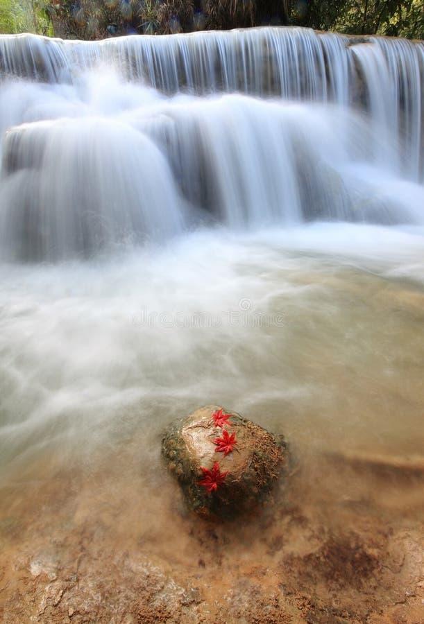 Tat Guangxi Waterfall, Luang Prabang. stock photo
