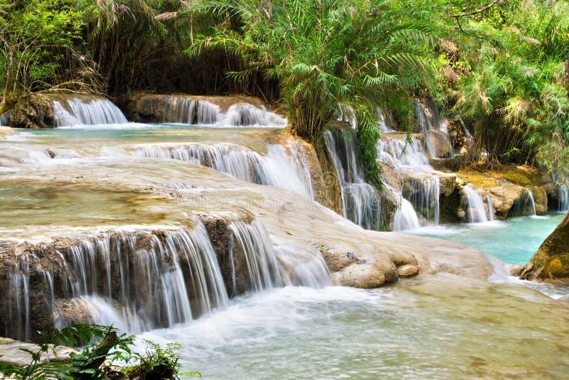 Tat Kuang Si Falls, Luang Prabang, Laos fotografie stock
