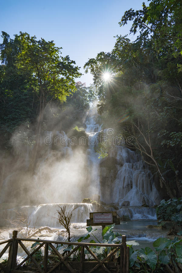 Tat Kuang Si Waterfall stock photos