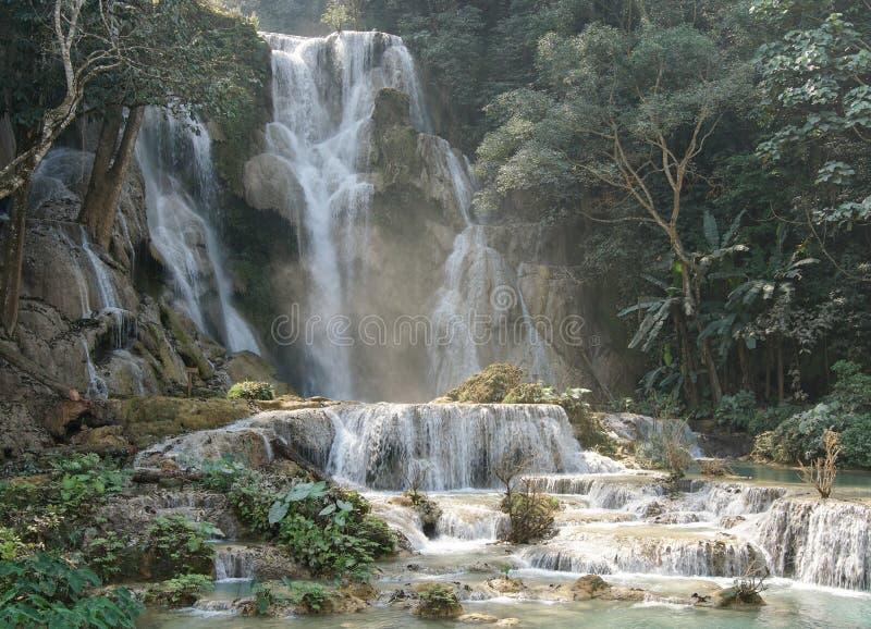 Tat Kuang Si Waterfall, Laos fotografia stock
