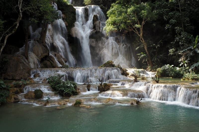 Tat Kuang Si Waterfalls luang prabang in Lao royalty free stock image