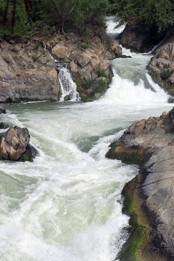 Tat Somphamit (Li Phi Falls) fotos de stock