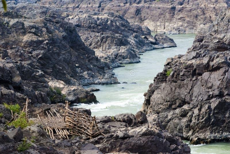 Tat Somphamit (Li Phi Falls) fotografia de stock