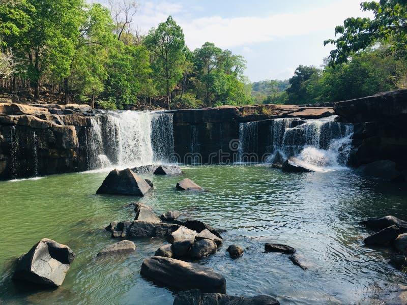 Tat Ton Wodospad na Chaiyafum w Tajlandii zdjęcia stock