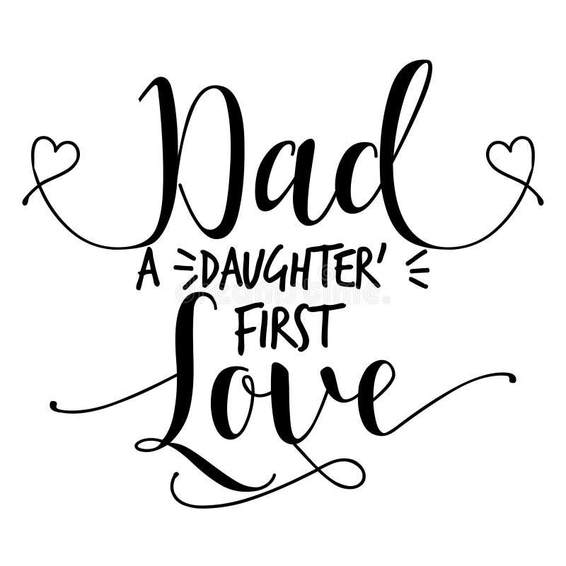 Tata córki ` s najpierw kocha ilustracji