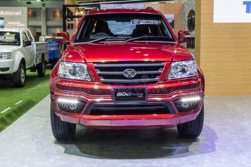 TATA ksenony 150N XPLORE 4WD pokazywali w Tajlandia 37th Bangkok Ja obrazy stock