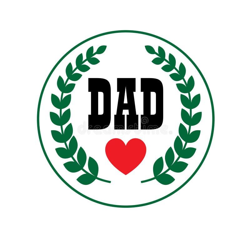 Tata ojców dnia grzebień royalty ilustracja