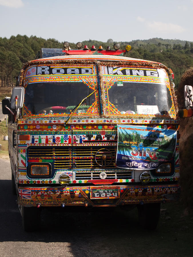 Tata truck stock image