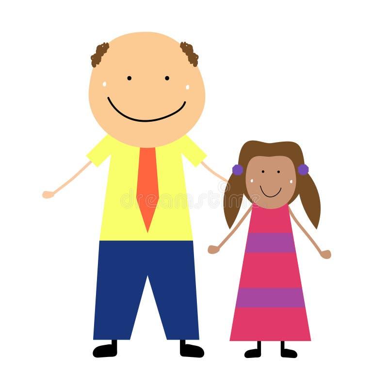 Tata z córką ilustracja wektor