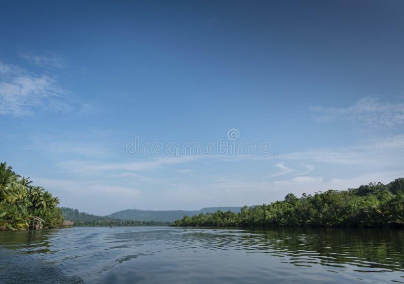 Tatajski krajobraz przyrody dżungli w odległych kardamowskich górach kambodża obraz stock