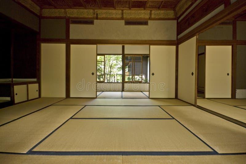 Tatami e Shoji la vecchia stanza giapponese. immagini stock libere da diritti