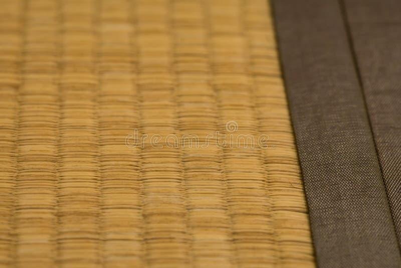 Tatami Mat. A close up shot of a Japanese Tatami mat made from straw royalty free stock photo