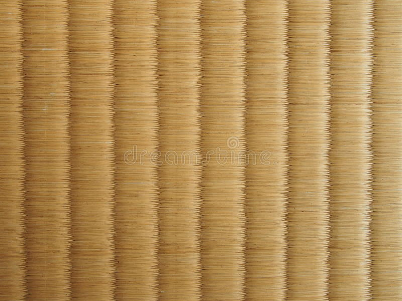 Tatami mat, Japanese floor. Close up detail of tatami mat, Japanese floor royalty free stock images