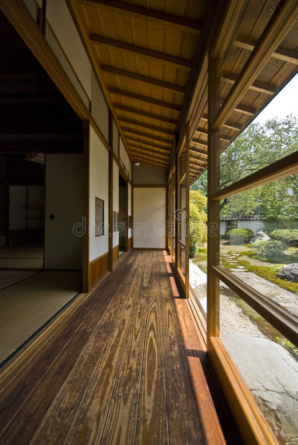 Tatami and Shoji the old Japanese room. royalty free stock photo