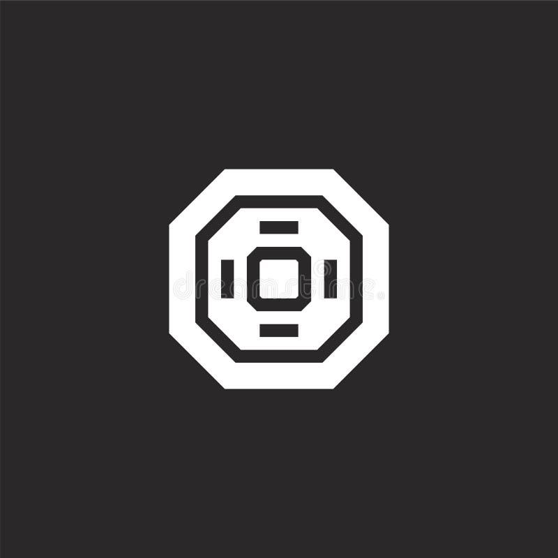 tatamipictogram Gevuld tatamipictogram voor websiteontwerp en mobiel, app ontwikkeling tatamipictogram van gevulde vechtsportenin vector illustratie