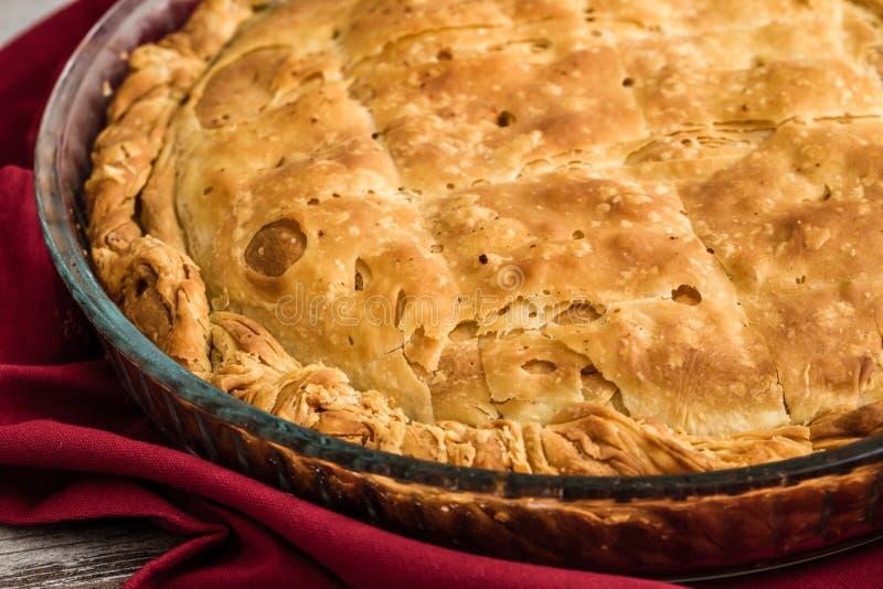 Tatar Borek, Gobete met Vlees, Traditioneel Voedsel van Turkije stock afbeeldingen