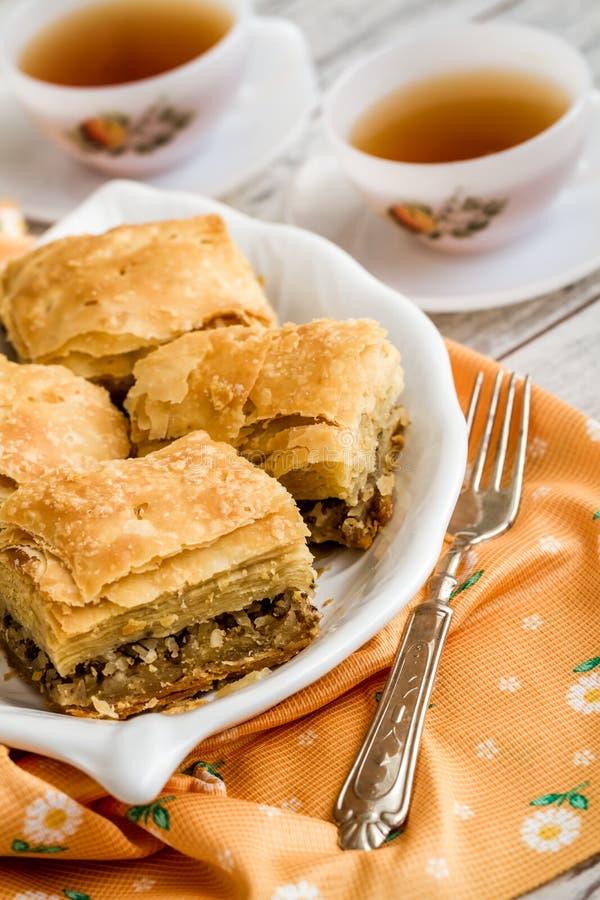Tatar Borek, Gobete met Vlees, Traditioneel Voedsel van Turkije royalty-vrije stock afbeelding