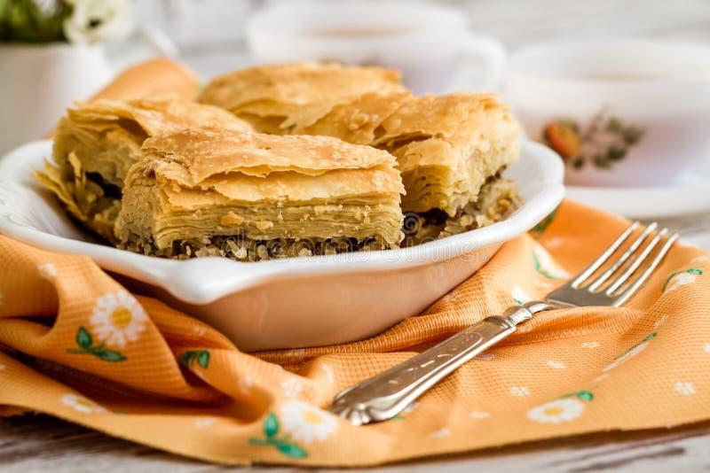 Tatar Borek, Gobete met Vlees, Traditioneel Voedsel van Turkije stock foto