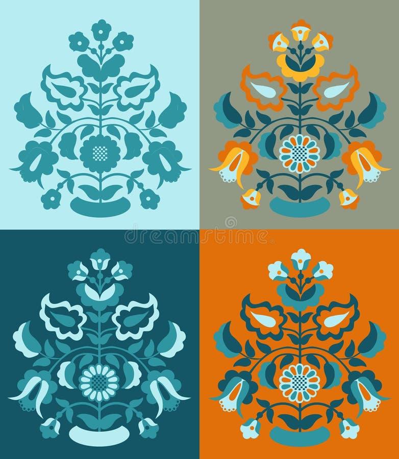 Tatar deseniowy ` drzewo życia ` ilustracja wektor