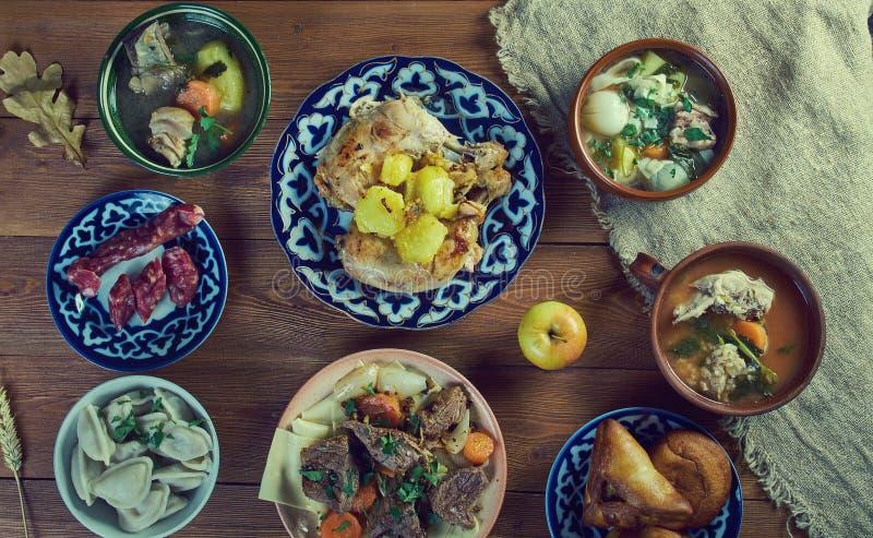 Tatar keuken stock afbeeldingen