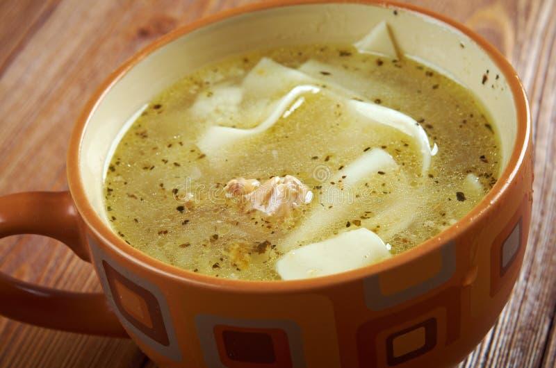 Tatar soep van de kippennoedel royalty-vrije stock foto